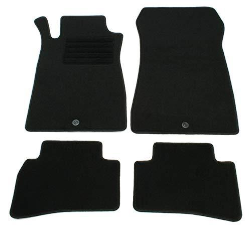 AD Tuning GmbH HG2738 Velours Passform Fußmatten Set Schwarz Autoteppiche Teppiche Carpet Floor mats