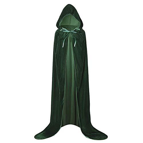 GAOU Capa de Terciopelo con Capucha de Longitud Completa para Disfraz de Halloween, Navidad, Cosplay de 66.9 Pulgadas