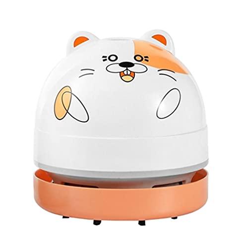 FOMIYES 1 Unidades Escritorio Mini Aspirador Gato Diseño Portátil Mini Aspirador Recargable Nail Art Desktop Colector de Polvo Mini Nail Art Polvo Cleaner Color Mezclado