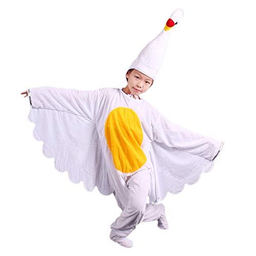 JJAIR Erwachsene und Kinder Swan Kostüm, weiches Pelz-warme Weihnachten Familie verkleiden Aktivitäten Leichte Bühnenrequisiten Kostüme Interessantes Tier Spiel Kostüme,Schwarz,90