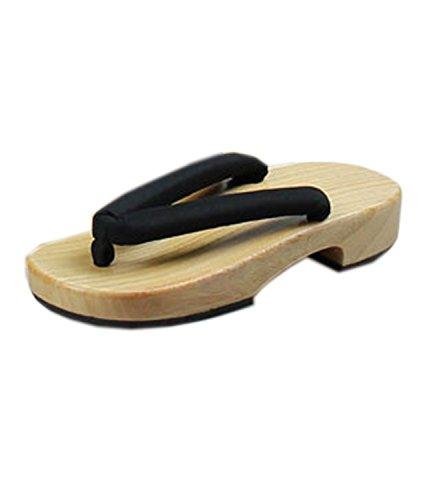 Nuoqi®Tradizionale Giapponese Zoccoli Scarpe Sandali Geta Accessori Cosplay (EU38-39(Lunghezza: 25cm), SEM18E)