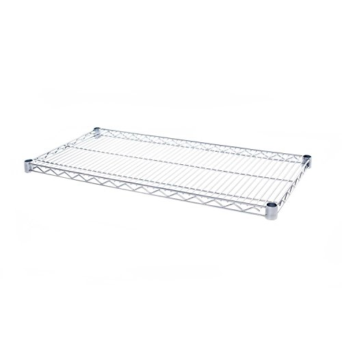 Seville Classics SHE18308SH Commercial NSF Stainless Steel Top Worktable Shelf, 18' D x 48' W x 1' H