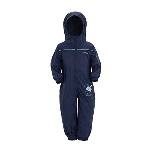 Regatta Puddle IV Kinder Regen-Overall, Marineblau, 12–18 Monate