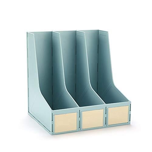 Compartiment magazine rack de stockage box office magazine rack storage box de stockage moderne style minimaliste fichier classification salle de classe module titulaire A4 papier,Blue