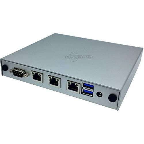 NRG Systems APU2E4 (ersetzt APU2D4) Router/Firewall (lüfterlos) mit 3xLAN, mSATA SSD, pfSense, VPN, DynDNS (250GB, Silber)
