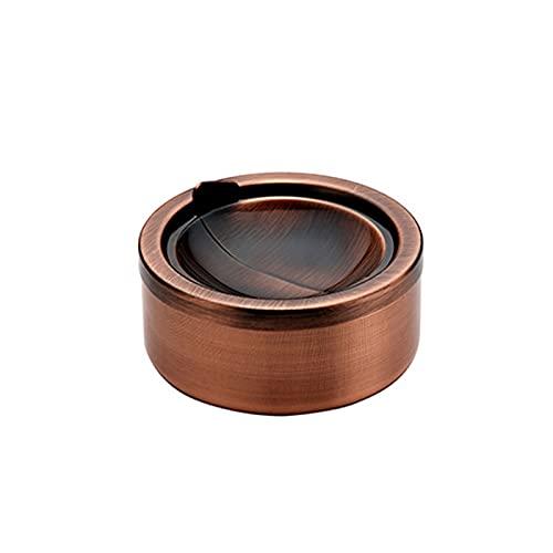 Yuforest-1 pezzo Posacenere Da Tavolo Moderno Antivento posacenere antivento Posacenere Rotondo in Acciaio Inossidabile,può essere perfettamente integrato in qualsiasi decorazione interna ed esterna