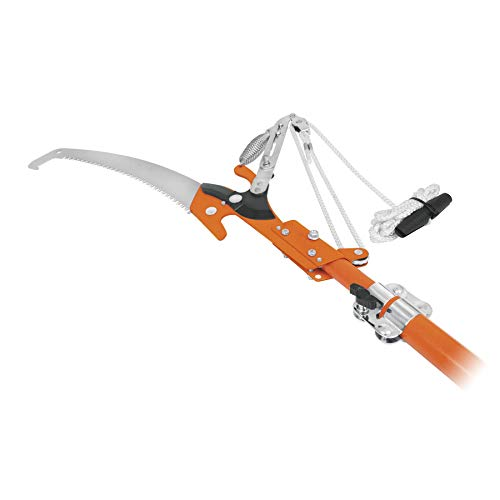 Truper TR-82M-F, Cortador de doble cuchilla con mango telescópico de fibra de vidrio de 3.50 m