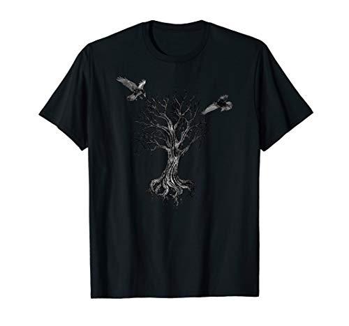 Yggdrasil Irminsul Weltenesche Odins Raben Wikinger Midgard T-Shirt