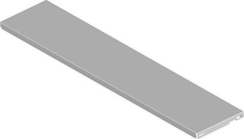 Element System 10700-00004 Stahlfachboden Regalboden / 2 Stück/B x T = 80 x 20 cm/weiß/für Wandschiene und Pro-Regalträger