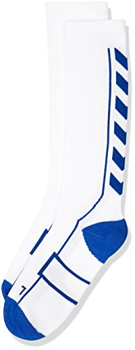 Hummel Kinder Socken Tech Indoor Socks High, White/True Blue, 8 ( 32 - 35 ), 21-075-9368