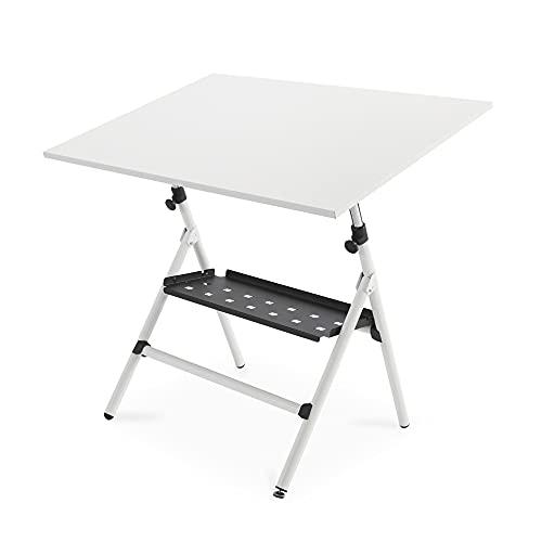 Rocada   Mesa de Dibujo Profesional   Estructura metálica Plegable y Regulable   Incluye Tablero Blanco de Melamina de 65 x 90 cm