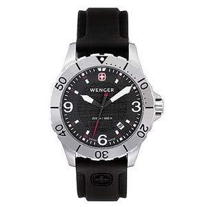 Wenger 72175 Armbanduhr, Gummiband, Schwarz