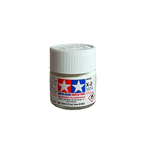 Tamiya 81502 - Pintura Acrílica Mini, Brillo Blanco Frasco de 10ml, X-02