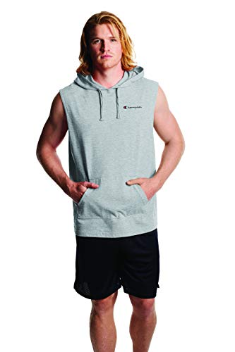 Champion Men's MIDDLEWEIGHT Sleeveless Hoodie, Oxford Gray, Small