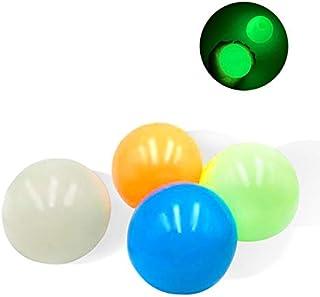 YEKKU 4 bolas luminosas para aliviar el estrés, bolas adhesivas de pared sensoriales, juguetes de descompresión para niños...