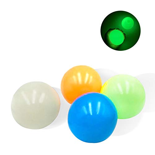 Stress Reliefer Fluorescent Sticky Target Balls Toys, Squishy Mash Ball/Anti-Stress-Bälle, Sticky Globbles Ball Stress Spielzeug, Fluoreszierende Klebrige Wand Ball for Exercise and Stress Relief