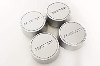 Rota Wheels Replacement Wheel Center Caps - Moda - Silver - Set of 4 Caps