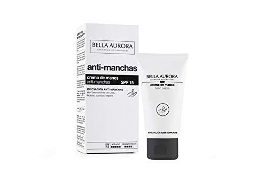 Bella Aurora Crema de Manos Anti-Manchas SPF 15, 75 ml | Anti-edad | Tratamiento Reparador Hidratante | Despigmentante | Protege y Regenera | M7