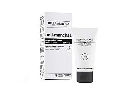 Bella Aurora Crema de Manos Anti-Manchas Spf 15, Anti-Edad, Tratamiento Reparador Hidratante, Despigmentante, Protege y Regenera, M7, 75 Mililitros