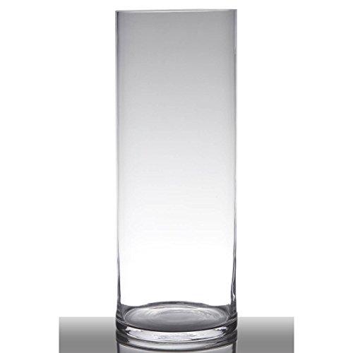 Hakbijl Dekoglas, Vase Zylinder H. 50cm D. 19cm transparent rund Glas