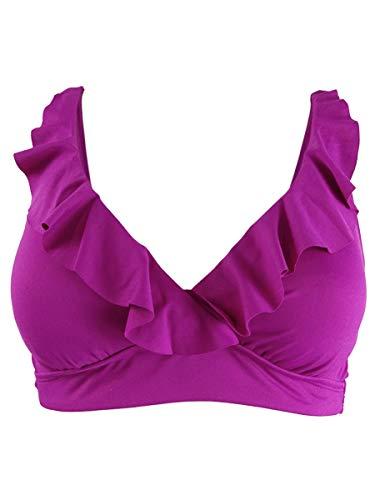 Lauren Ralph Lauren Beach Club Rüschen Bügel-Bikinioberteil - Violett - 42
