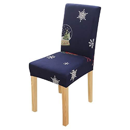 MZSC Blumenmuster-Stuhl-Abdeckung Weihnachten Stretch High Back Weihnachten Slipcovers Big Elastic Sitz Hussen for Bankett Stuhlbezug (Color : 11, Size : 2pcs)