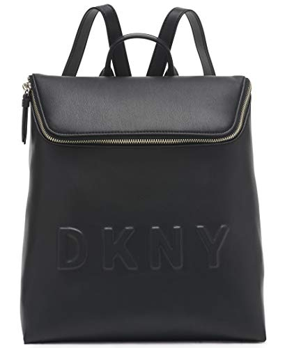 DKNY Damen TILLY MD TZ BACKPACK Rucksack, schwarz/Silber, Einheitsgröße