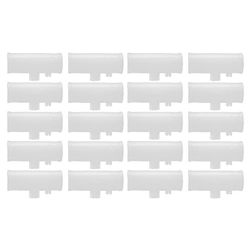 CjnJX-Vases 20 Piezas de Tubo en Forma de Camiseta de Pollo Adaptador de Camiseta de Pollo Duradero a Prueba de Fugas sin Taladro Bebedero de Pollo Accesorios de Pollo para la Industria de la cría(B)