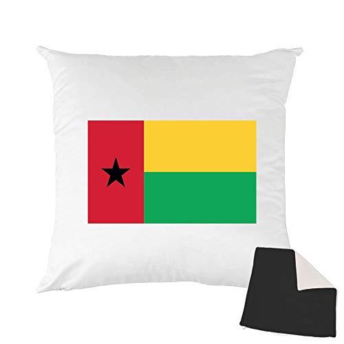 Mygoodprice Kissenhülle, zweifarbig, Bedruckt, 40 x 40 cm, Flagge Guinea, Bissau Schwarz