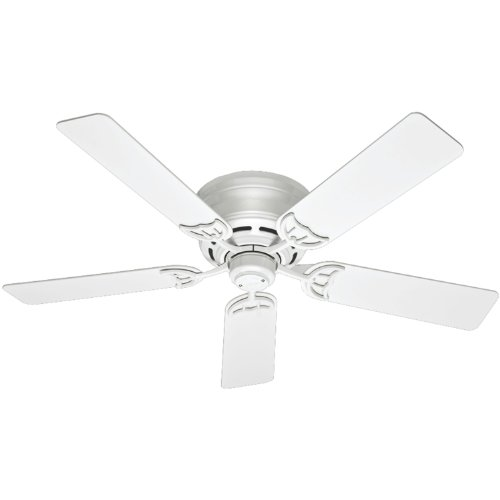 Hunter Fan Company Hunter 53069 Traditional 52``Ceiling Fan from Low Profile III collection in White finish