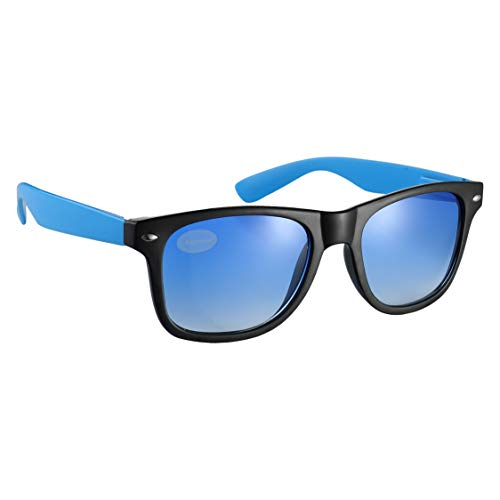 Komonee Negro Y Azul Tint Drifter Style Gafas De Sol UV400 Proteccion Unisexo (SG-122)