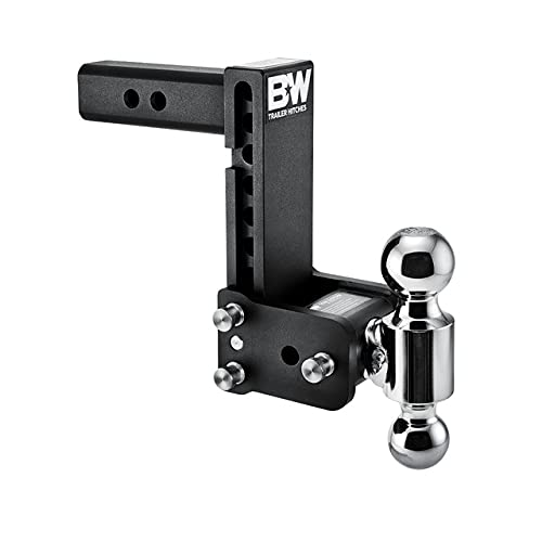 """B&W Trailer Hitches Tow & Stow - Fits 2"""" Receiver, Dual Ball (2"""" x 2-5/16""""), 7"""" Drop, 10,000 GTW - TS10040B"""