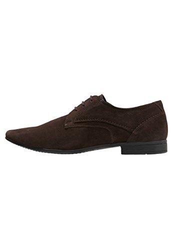 PIer One Zapatos de Hombre en Marrón o Negro – Elegantes Zapatos de Cordones Tipo Oxford - Zapatos Derby de Vestir para ir a Trabajar o para Salir – Zapatos de Cuero