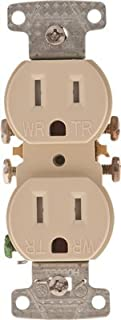 HUBBELL WIRING GIDDS-606494 RR15SIWRTR Self Grounding and Tamper Proof Duplex Receptacle 15 Amps Ivory-606494, Ivory