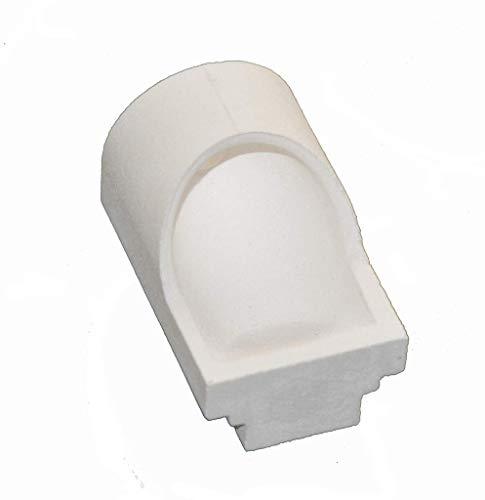 LXHSY Horizontal Ceramic Casting Crucible Dental Quartz Crucible for Centrifugal Casting Machine 2 Pieces