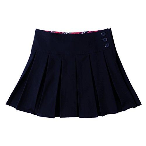 Bienzoe Mädchen Dehnbar Schuluniformen Gefalteter Rock Marine Größe 16