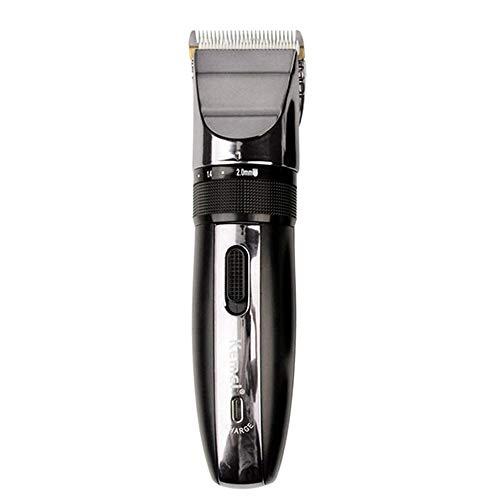 Cortapelos eléctrico recargable para hombre, cortador de pelo inalámbrico, afeitadora de afeitado portátil de precisión, ajustable con bajo nivel de ruido, kit de corte de pelo profesional