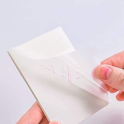 LIAWEI Paquete de 50 blocs de notas transparentes, papel de notas, libro...