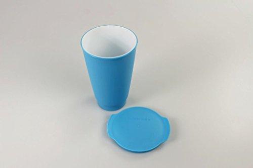 TUPPERWARE Allegra Cup 15251 - Vaso (450 ml), color azul y blanco