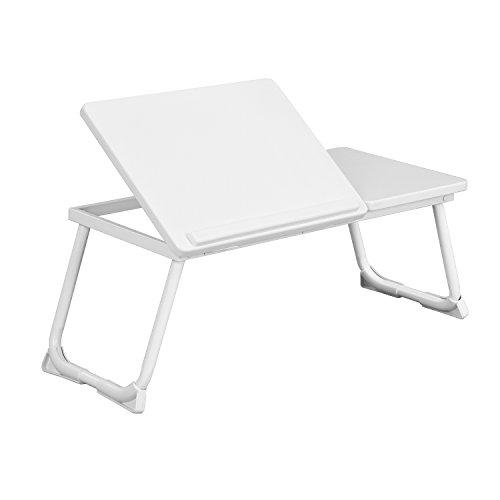 Coavas Laptop Tisch Bett Schreibtisch für 14-17 Zoll Laptop Faltbar Sofa Notebook Stand mit 4 einstellbaren Ebenen für die Maus Weiß