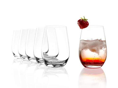Gobelet Stölzle Lausitz, 465 ml, lot de 6, résistant au lave-vaisselle : verre robuste, réellement polyvalent, idéal pour toutes les boissons fraîches