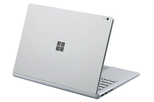DolDer Microsoft Surface Book 2 (Intel HD-Grafik 620) Skin Chrome-Soft-Silver Designfolie Sticker für Surface Book 2 (Intel HD-Grafik 620)