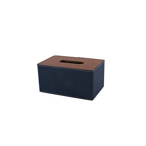 FEINENGSHUAI Caja de pañuelos 1 caja de almacenamiento para el hogar de gran capacidad, 19 x 13 x 9,5 cm, caja de pañuelos de escritorio, mesa de café para el hogar, escritorio de baño (color azul)
