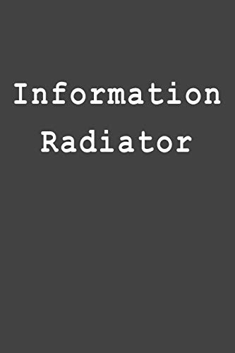 Information Radiator: Blank Lined Journal
