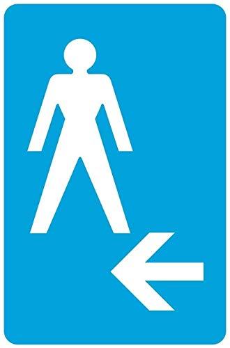 Letrero de hierro con diseño de flecha izquierda para hombre, aspecto retro, 20 x 30 cm, decoración de manualidades, para el hogar, cocina, baño, granja, jardín, garaje, divertido decoración de pared
