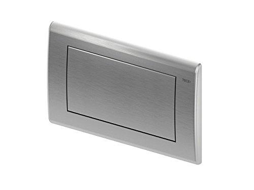 TECEplanus WC Betätigungsplatte (Spülmenge verstellbar, Maße 214x144x15 mm) Edelstahl gebürstet, 9240310