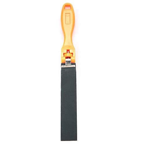 Schuurpapier liniaal, metalen slijpen slijpen schuurgereedschap met papier clips bar schuurpapier sieraden polijsten gereedschap schuurpapier liniaal schuurmiddel schurende slijpen buffing accessoire voor doe-het-zelf sieraden maken 2.5cm