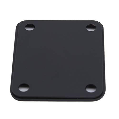 Kingus Guitar Neck Plate mit Schrauben Guitar Neck Joint Board für Tele Telecaster Guitar Ersatzteile, schwarz