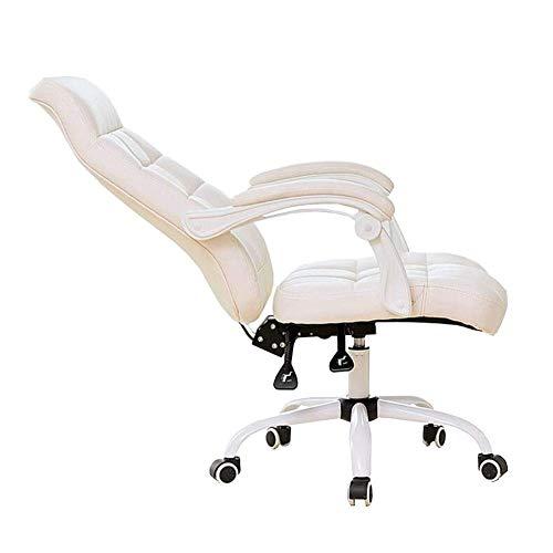 Silla escritorio Silla de oficina, silla de la tarea de piel de primera calidad media de la espalda computadora de oficina giratoria de escritorio, silla ergonómica ejecutiva con relleno lumbar y apoy