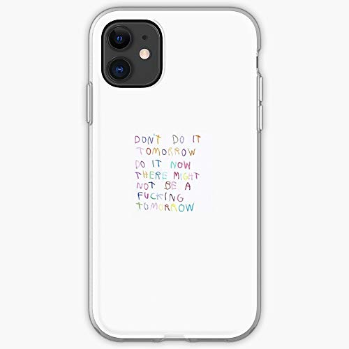 Majamoo Tomorrow Now Spontaneous Future Today Impulse Colorful Quote | Handyhülle für iPhone 11, iPhone 11 Pro, iPhone XR, iPhone 7/8 / SE 2020 - TPU Stoßfester Innenschutz